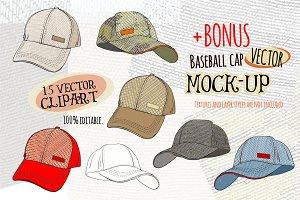 Vector Baseball Cap Mockup