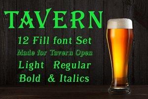 Tavern Fill Font Set