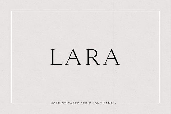 Serif Fonts: Cassandra Cappello - Lara - Sophisticated Serif Typeface