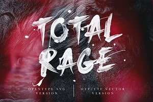 Total Rage - Brush SVG Font