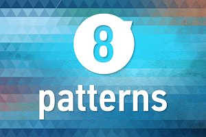 8 blue winter geometric patterns