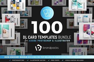 100 DL Card Templates Bundle