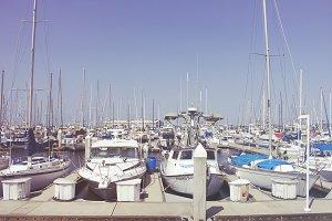Boats in Monterey Harbor