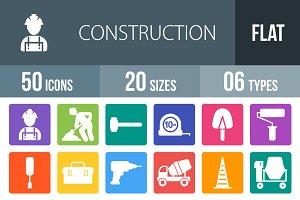 50 Construction Flat Round Corner