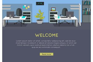 Welcome Vector Concept in Flat Style