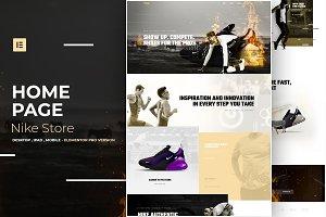 Nike Store - Elementor Pro Layout