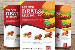 Burger Menu Flyer Psd Template