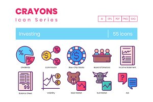 Investing Icons   Crayons Series