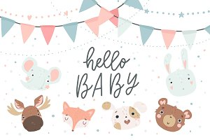 Baby Shower -Animal set