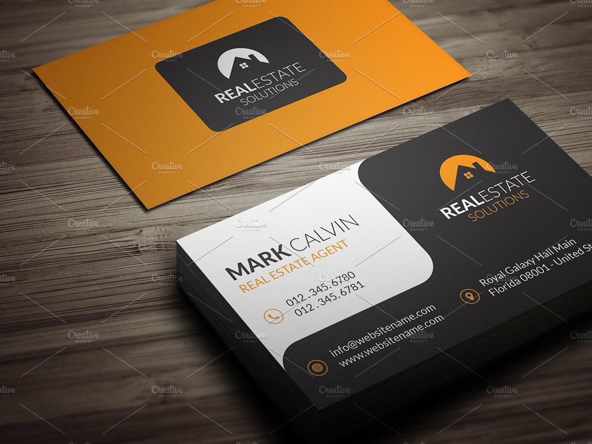 Real Estate Business Card 39 ~ Business Card Templates ~ Creative ...