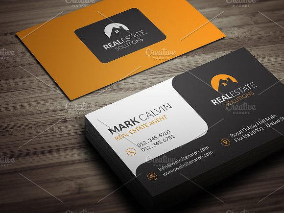 Real estate business card 39 business card templates creative market real estate business card 39 business cards friedricerecipe Images
