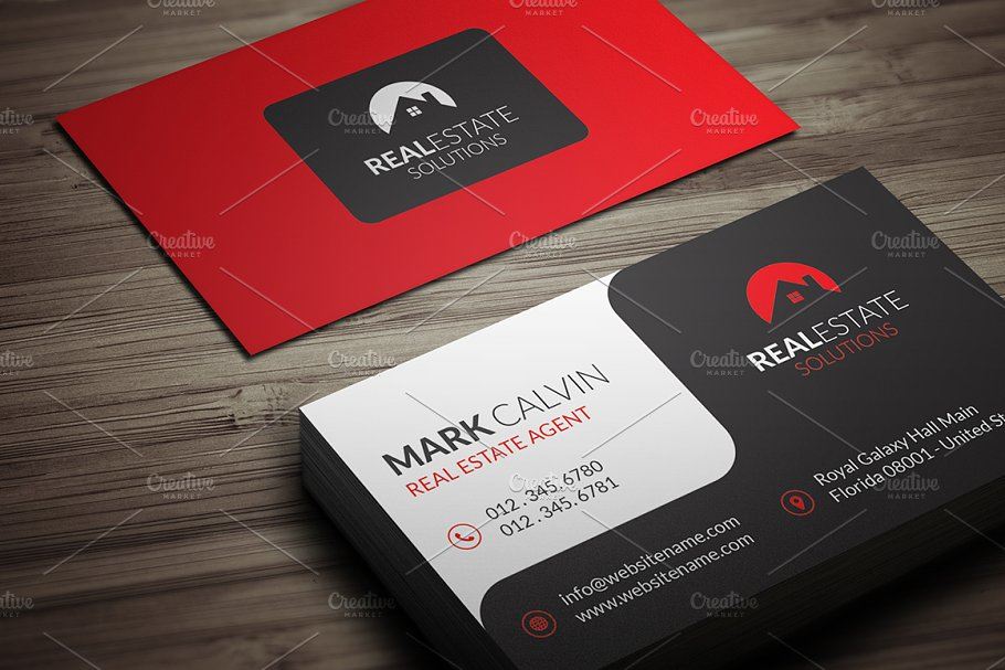 Real estate business card 39 business card templates creative real estate business card 39 flashek Gallery