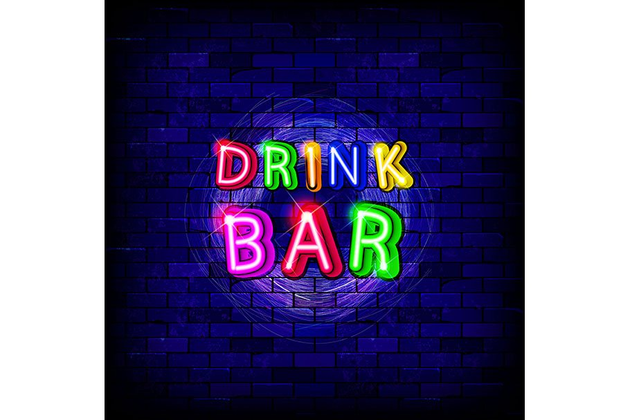Neon lamps for bars