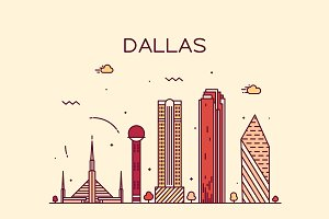 Dallas skyline (USA)