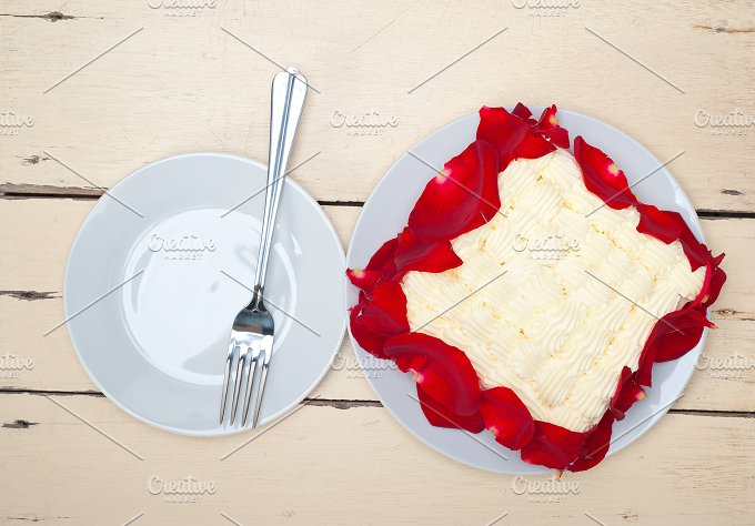 whipped cream mango cake with red rose petals 018.jpg - Food & Drink