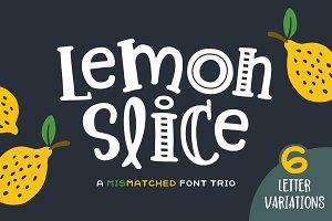 Lemon Slice Font Trio