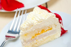 whipped cream mango cake with red rose petals 037.jpg