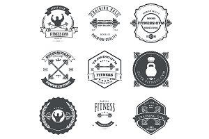Fitness and Gym Themed Label Design
