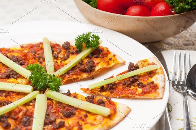 Turkish beef pizza pita 03.jpg - Food & Drink