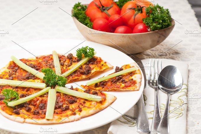 Turkish beef pizza pita 02.jpg - Food & Drink