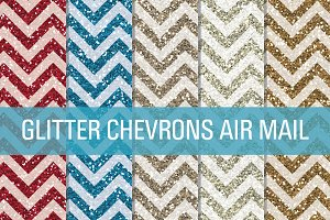 Glitter Chevron Textures Air Mail