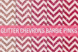 Glitter Chevron Textures Barbie Pink
