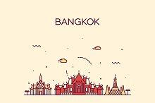 Bangkok skyline (Thailand)