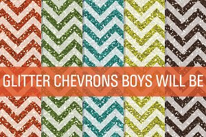 Glitter Chevron Textures Boys Will