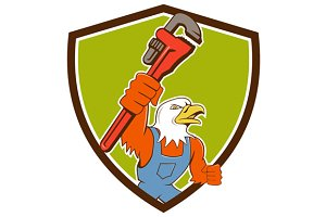 Bald Eagle Plumber Monkey Wrench Cre