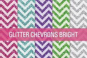 Glitter Chevron Textures Bright
