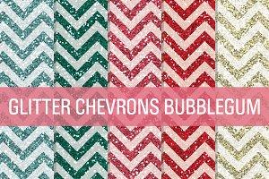 Glitter Chevron Textures Bubblegum