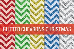 Glitter Chevron Textures Christmas
