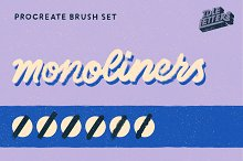 Monoliners Procreate Brush Set by  in Procreate Brushes