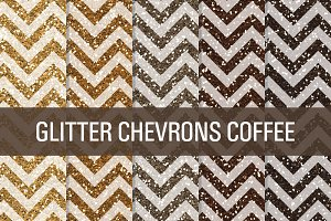 Glitter Chevron Textures Coffee Bean