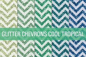 Glitter Chevron Textures Tropical