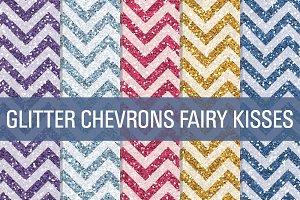 Glitter Chevron Textures Fairy Kiss