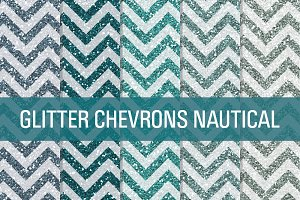 Glitter Chevron Textures Nautical