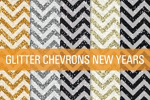Glitter Chevron Textures New Years