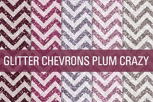Glitter Chevron Textures Plum Crazy