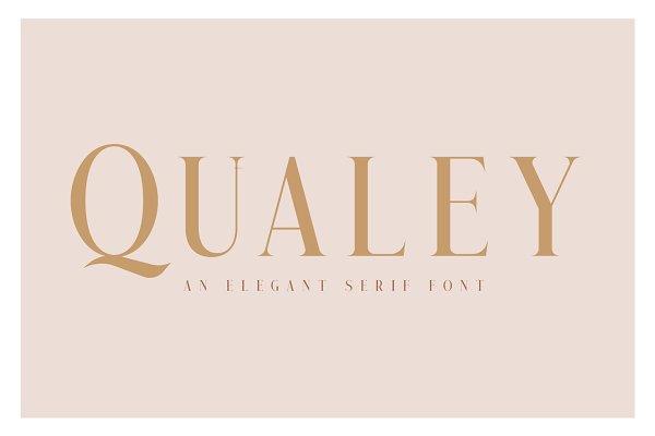 Serif Fonts: Craft Supply Co. - Qualey - Elegant Serif Font