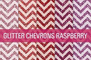 Glitter Chevron Textures Raspberry