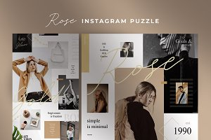 Rosé - Instagram puzzle