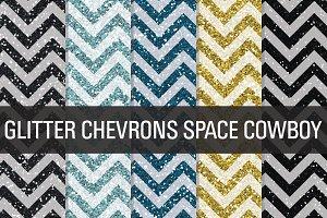 Glitter Chevron Textures Space
