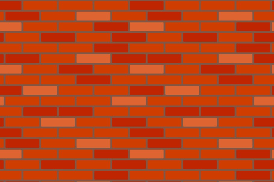 Red Brick Wall Seamless Pattern Custom Designed Graphic Patterns