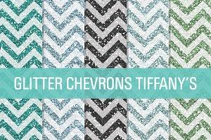 Glitter Chevron Textures Tiffany's
