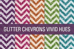 Glitter Chevron Textures Vivid Hues