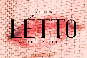 Letto Awesome Modern Serif