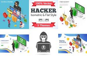 Hacker Activity Isometric Concepts