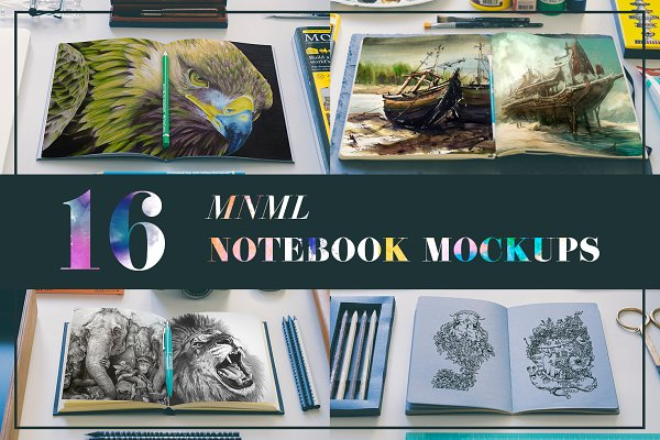 MNML Notebooks Mockups