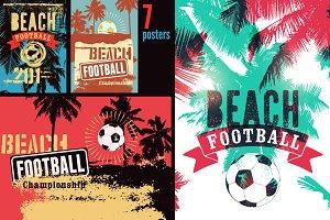 Beach Football vintage posters.